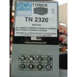 Toner zamiennik do Brother TN2320 HL-L2300D HL-L2340DW DCP-L2500D MFC-L2700DW Toner zamiennik do Brother TN-2320 HL-L2300D HL-L2340DW DCP-L2500D MFC